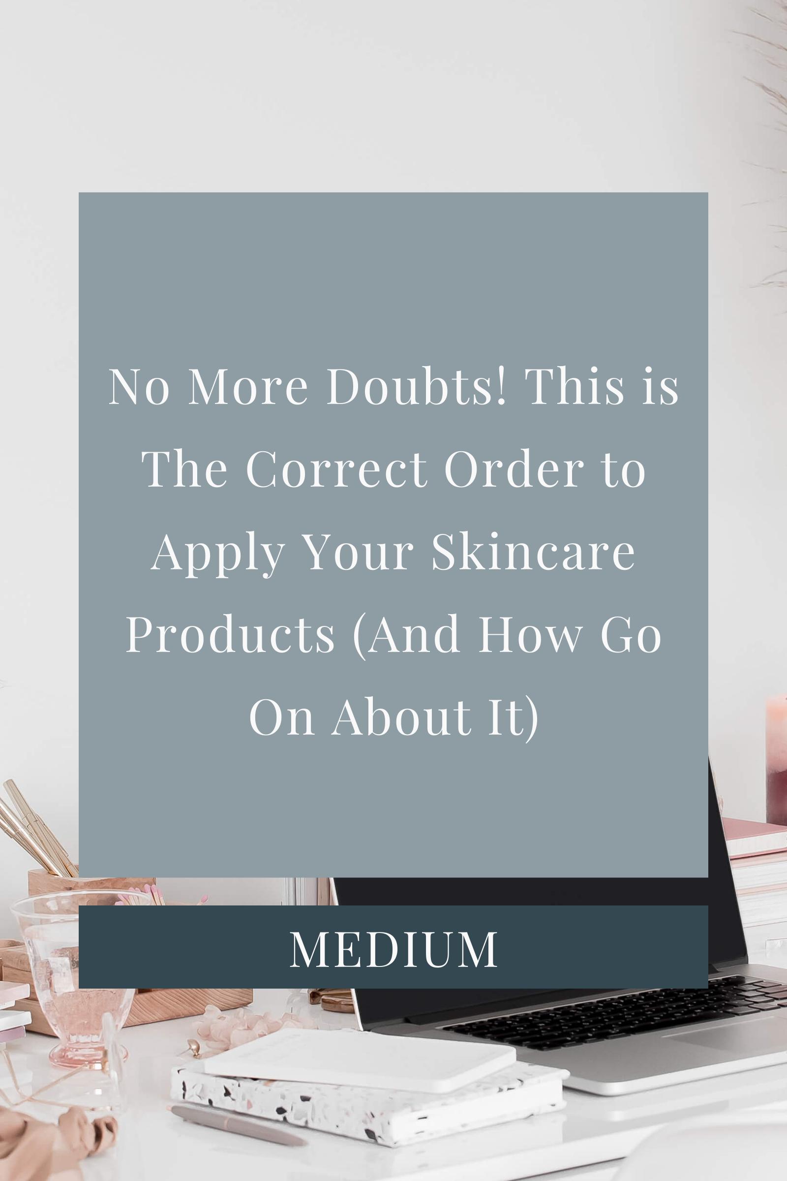 Skincare Routine Order